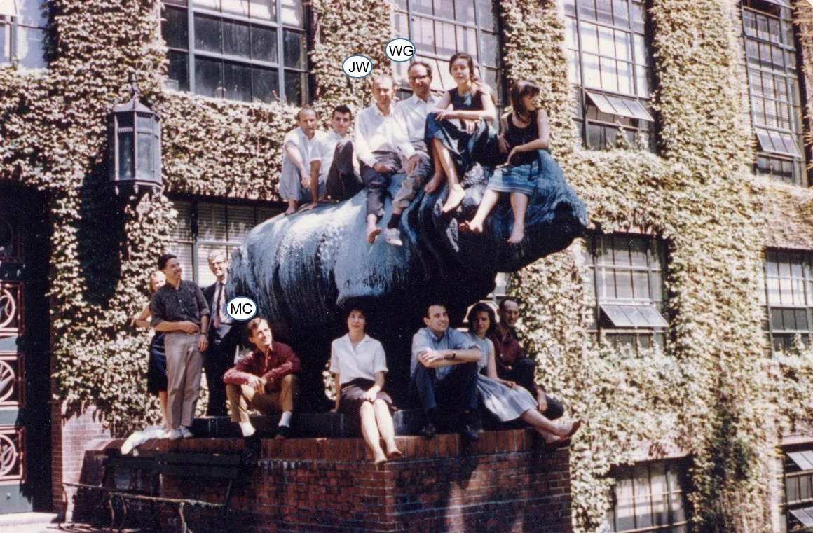 Group from Bio Labs on top of Rhinos