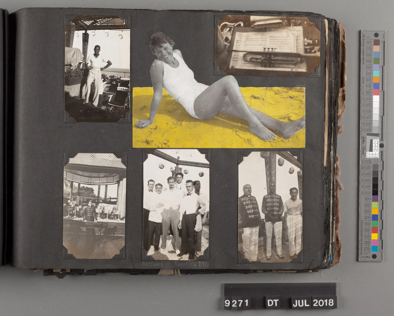 Trumpet player Bill Coleman's photo albums from the 1930s