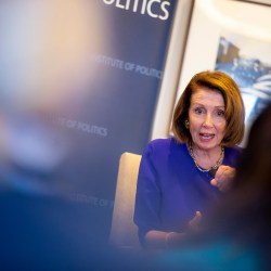 In Harvard appearance, Pelosi sees Democrats retaking House