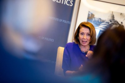 Nancy Pelosi at Harvard's IOP.