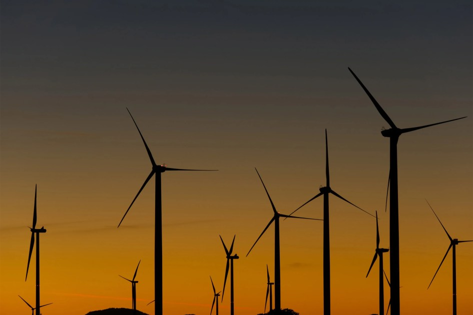 Large-scale wind power has its down side