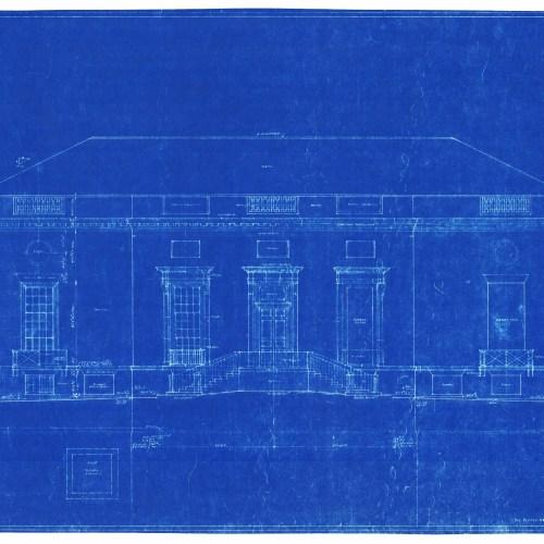 Original 1940 blueprint for Harvard's Houghton Library.