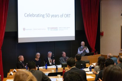 Faculty of Harvard Chan School celebrating the 50th anniversary of ORT