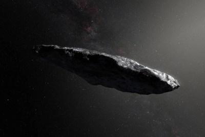 Artist's rendering of 'Oumuamua.