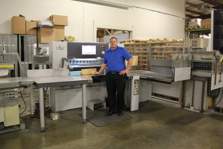Matt Theoret of Battlefield Graphics with the new Polar System 2 Cutting System