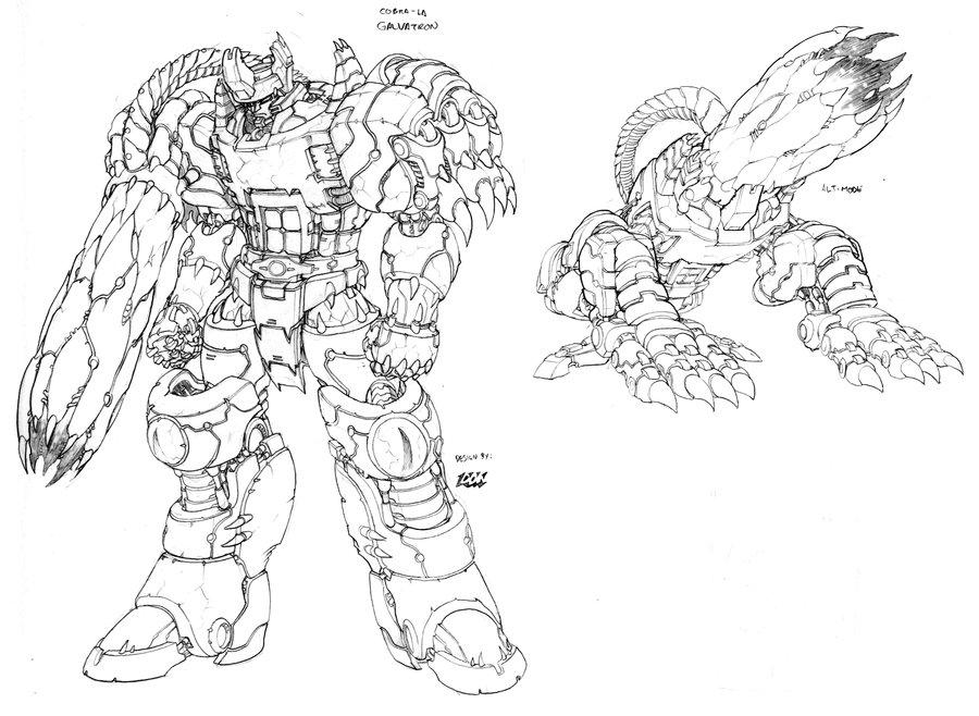 Transformers VS GI Joe Cobra La Galvatron Unused Design By