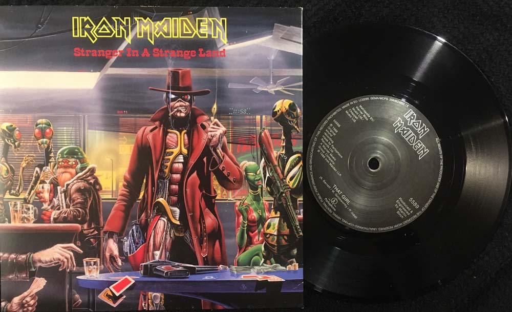 Stranger In A Iron Maiden Strange Land Seven Inch Single Cover