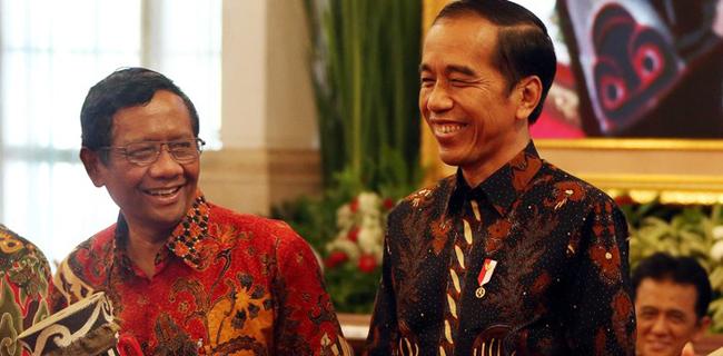 Mahfud MD dan Joko Widodo