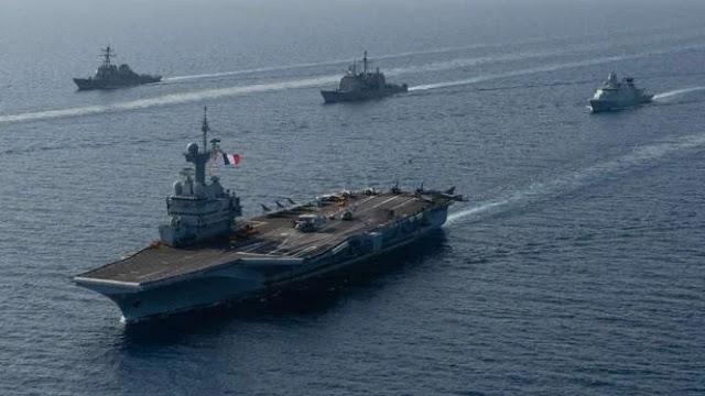 Kapal induk Angkatan Laut Prancis, Charles de Gaulle,(Foto: Second Line of Defense)