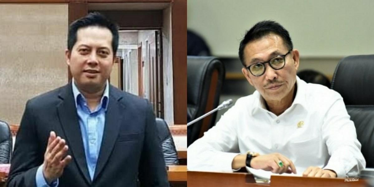 Dua anggota DPR dari PDIP Herman Herry dan Ihsan Yunus/