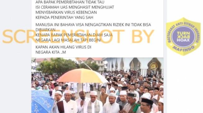 CEK FAKTA: Ribuan Jemaah Tanpa Masker Sambut Ustadz Abdul Somad, Benarkah?
