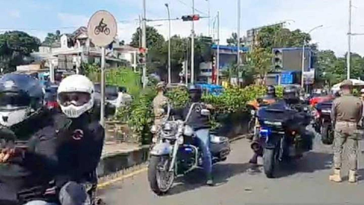 Dikawal Polisi, Konvoi Moge di Bogor Lolos Tak Diperiksa Ganjil Genap