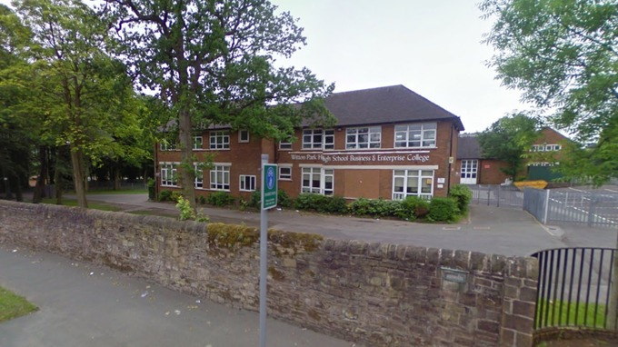 The incident happened outside Witton Park High School in Buncer Lane