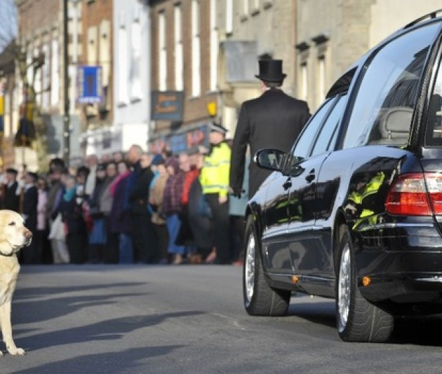 The Cortege For Lance Corporal Liam Tasker As It Passed Through Wootton Bassett During His Repatriation