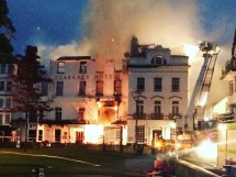 Historic Hotel Destroyed 50 Hour Blaze West Country