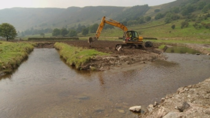 Parts of the Lake District were damaged by the floods.