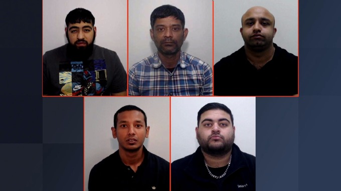 5 men jailed