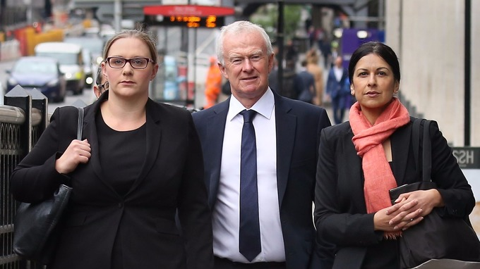 (Left to right) Anna Crowther, Martyn Day and Sapna Malik arrive at the Solicitors Disciplinary Tribunal in London.