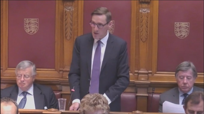 Senator Ian Gorst addressed the States Assembly this afternoon