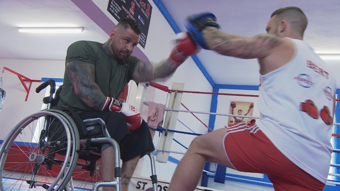 wheelchair fight casters for office chairs a year after being paralysed in motorbike crash gareth hughes is fighting his way through recovery and into ring