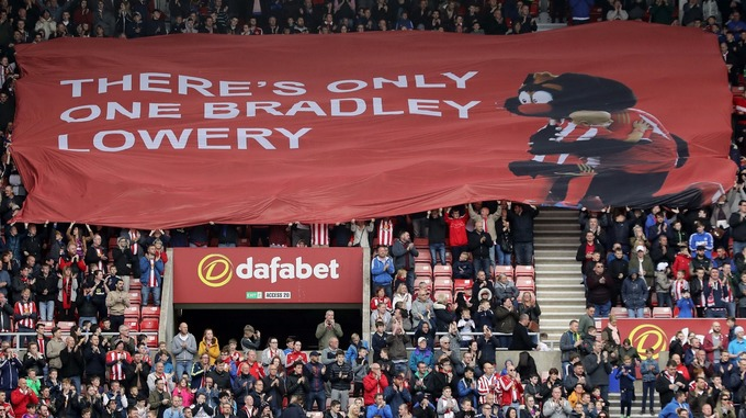 The chant 'There's only one Bradley Lowery' became popular among Sunderland fans last season.