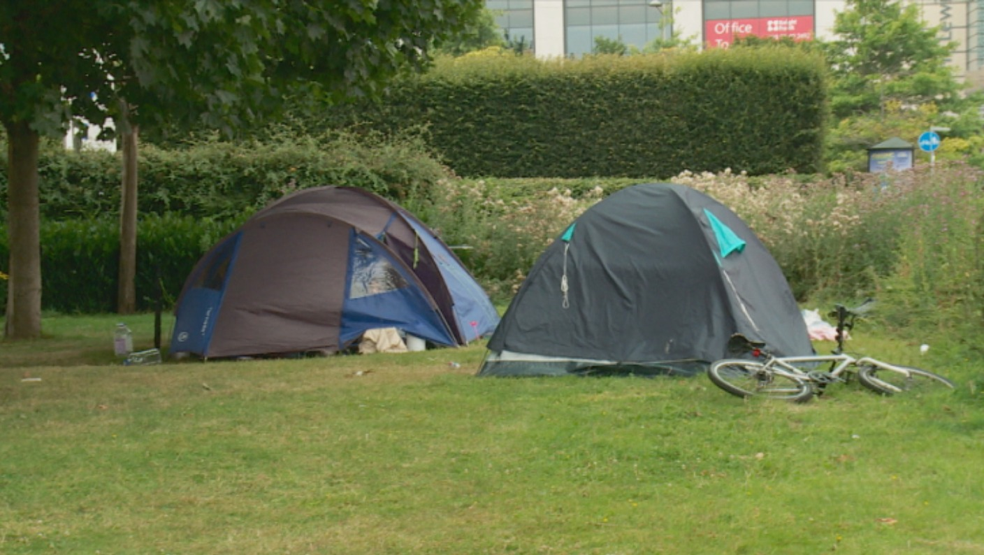Tent City The Homeless Camping In Cardiff Wales Itv News