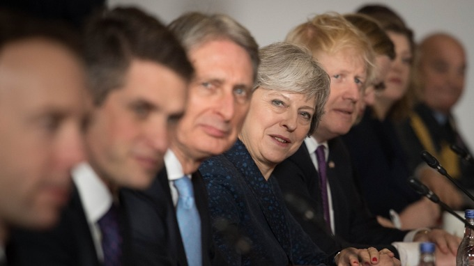 Cabinet split: Theresa May has seen growing discord between pro and anti-Brexit ministers.