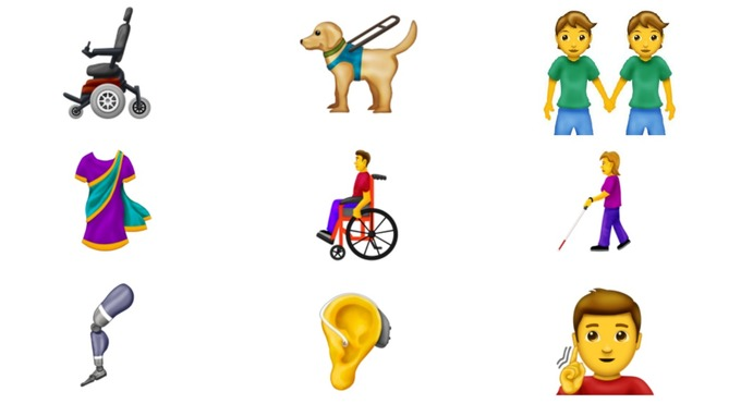wheelchair emoji chair steel furniture 230 new released in move to make characters more inclusive the include a deaf person an ear with hearing aid and motorised credit emojipedia