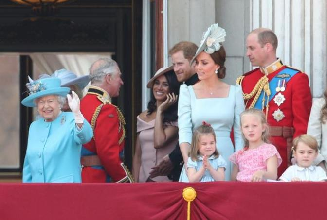 The Queen and the royal family during the Trooping the Colour celebrations last year