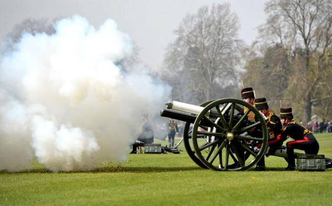 The King's Troop Royal Horse Artillery will perform their gun salutes the day after the Queen's birthday