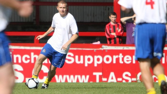 Mark 'Maddog' Maddox when he played for Altrincham FC.