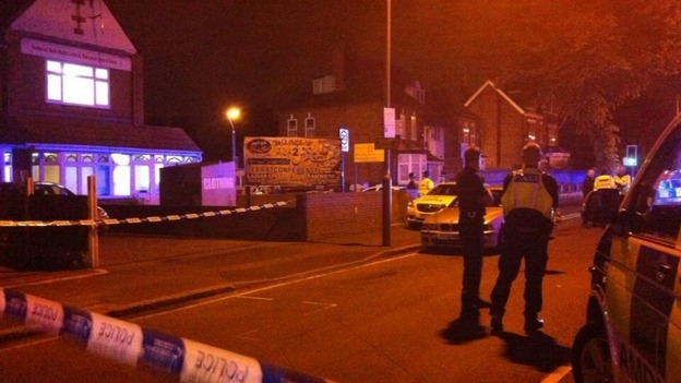 Police have cordoned off the area outside the mosque.