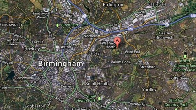 The attacks took place at a mosque in Washwood Heath Road, Ward End, Birmingham.