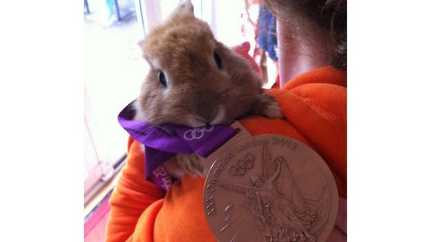 bronze for bunny rower