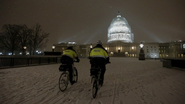 latest weather report states a huge snowstorm in America