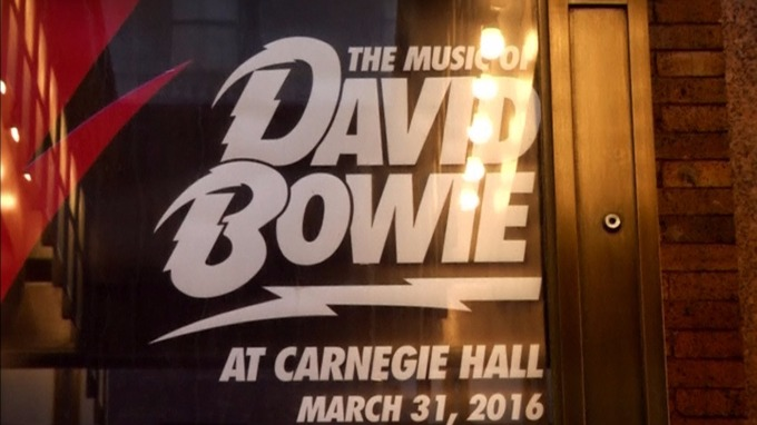 The gig was first of two concerts in memory of Bowie