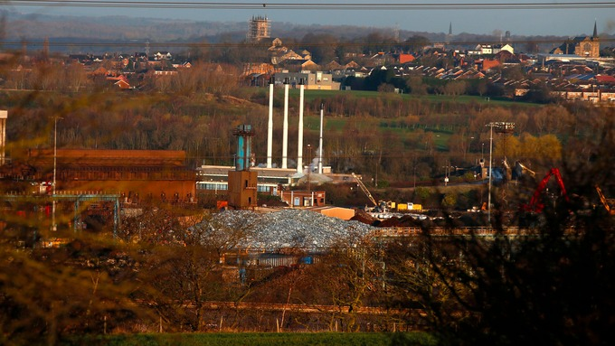 A general view of the Tata Steel LPB, Thrybergh Mill, Rotherham, Yorkshire