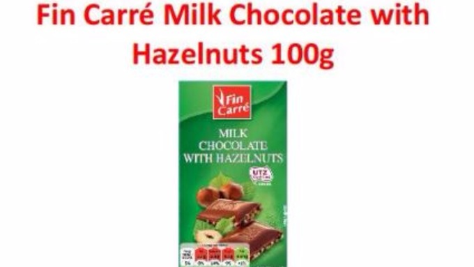 Fin Carre Milk Chocolate with Hazelnuts