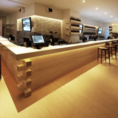 Commercial Kitchen Floor Coverings Backsplash Stone Hi-macs® Brings A Touch Of Elegance To Loft Restaurant And ...