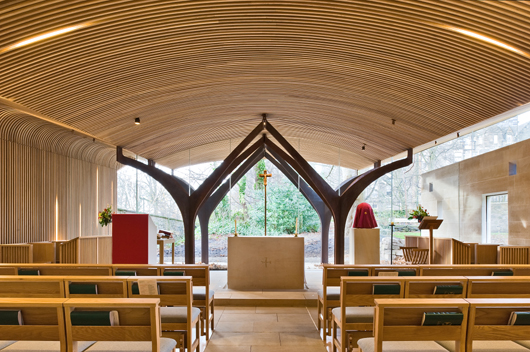 American white oak brings warmth to the new Chapel of St