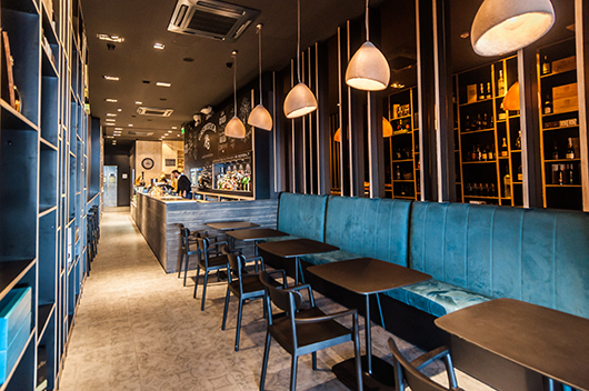 Pedrali furnishes the Rocksalt Bistro  Winebar in Malta