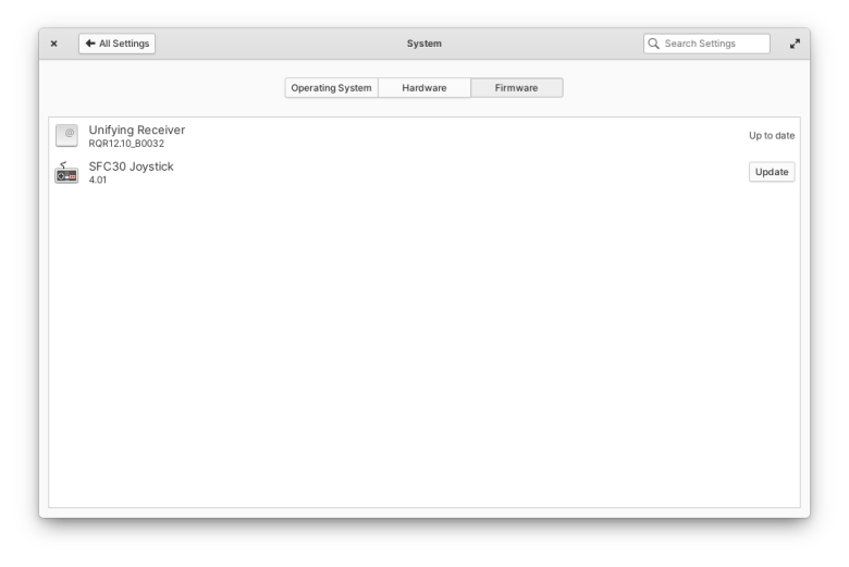 Firmware updates in elementary OS 6