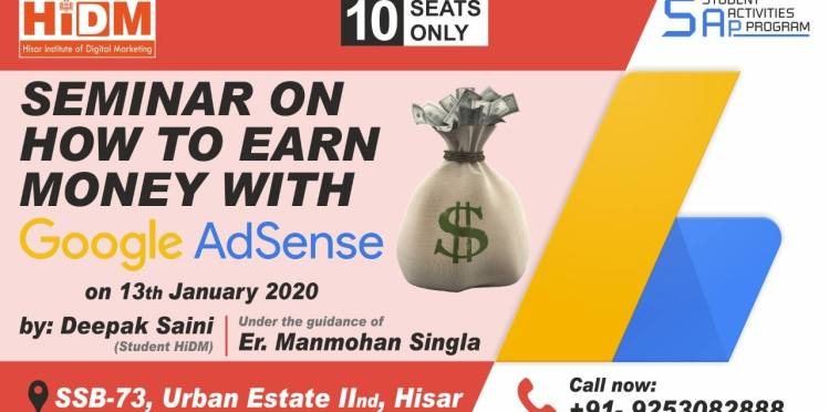 how to earn from Google AdSense Account