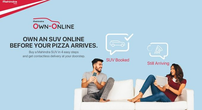 MAHINDRA LAUNCHES ONLINE SERVICE, CAR WILL COME HOME IN LESS TIME THAN PIZZA