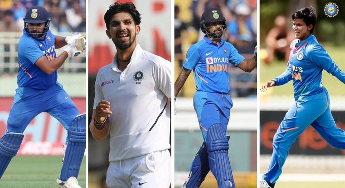 BCCI NOMINATES ROHIT SHARMA FOR RAJIV KHEL RATNA, SHIKHAR DHAWAN, ISHANT SHARMA AND DEEPTI SHARMA FOR ARJUNA AWARD