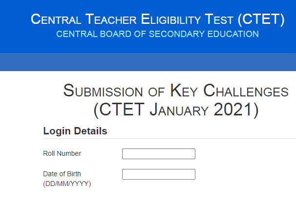 CBSE CTET Answer key 2021