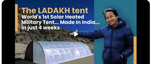 solar heated militray tent