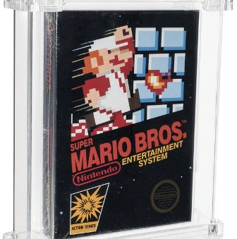 uper MArio Bros. Video game auction