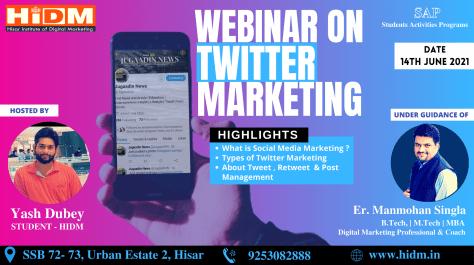webinar-on-Twitter | Online Digital Marketing Course in Hisar