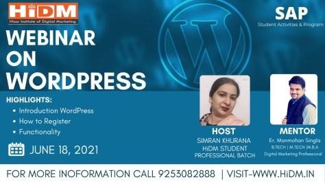 Webinar Fest 2021 : Webinar on WordPress